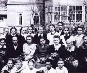 Школа в Верхнем Рощино, 1954 год